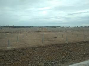 Lắp đặt kết cấu pin dự án Nhà Máy điện mặt trời TTC Đức Huệ, huyện Đức Huệ, tỉnh Long An
